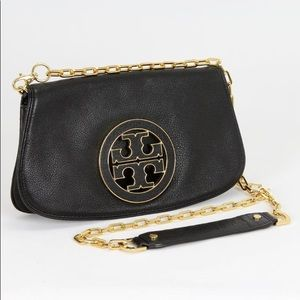 Tory Burch Black Leather Cross bodybag